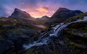 Romsdalen, Valley, In, Norway, Sunrise, Morning, Light, Desktop, Hd, Wallpaper, For, Pc, Tablet, And, Mobile