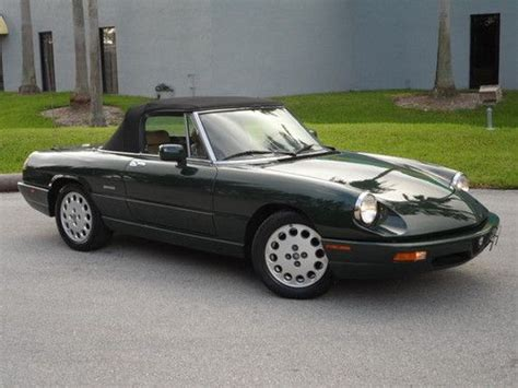 Sell Used 1992 Alfa Romeo Spider Veloce Convertible 2-door