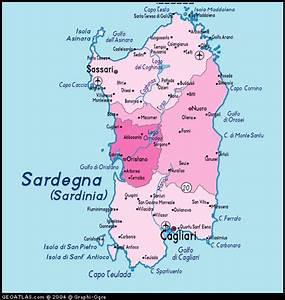 Kaart van Sardinie
