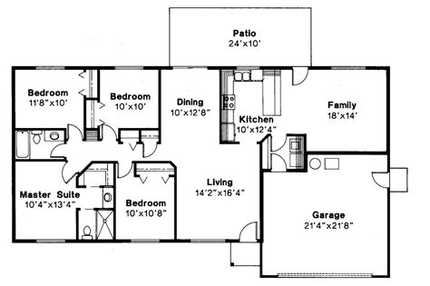 home floor plans 4 bedroom ranch style house floor plans house plans 4