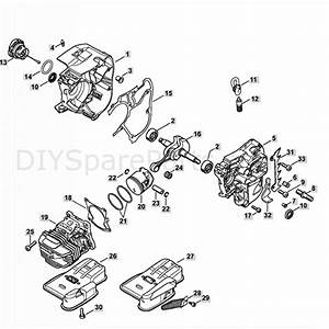 Stihl Ms 201 T Chainsaw  Ms201 T  Parts Diagram  Crankecase  U0026 Cylinder Assy