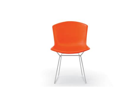 buy the knoll bertoia plastic side chair white base at