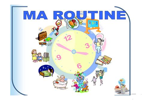 ma routine fiche dexercices  esl projectable