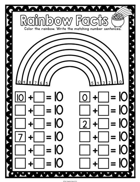 st s day kindergarten math activities pack print