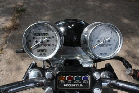 updating the speedo and tachometer plates for a honda