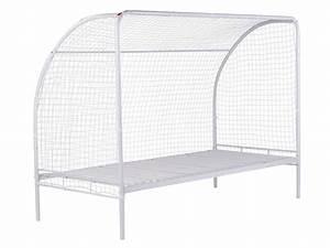 Cage Foot Enfant : lit cage de foot 90x190 cm goal coloris blanc vente de lit superpos et mezzanine conforama ~ Teatrodelosmanantiales.com Idées de Décoration
