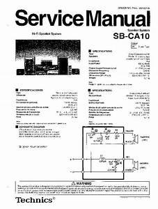 Panasonic Sb-ca10 Service Manual