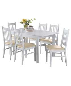 cucina white dining table and 6 chairs review
