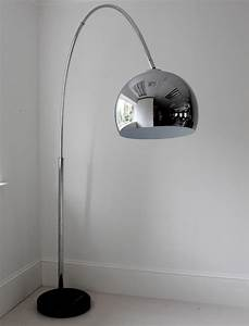 large chrome arch floor lamp floor lamps With giant curved floor lamp with metal shade