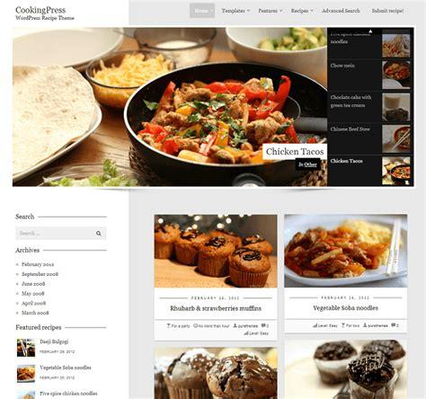 recette de cuisine en gratuit 14 thèmes pour votre site de recettes de cuisine