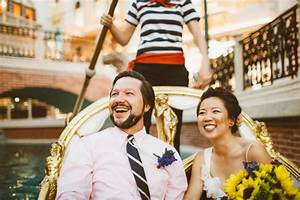 adorable gondola elopement at venetian from cluney photo With gondola wedding las vegas