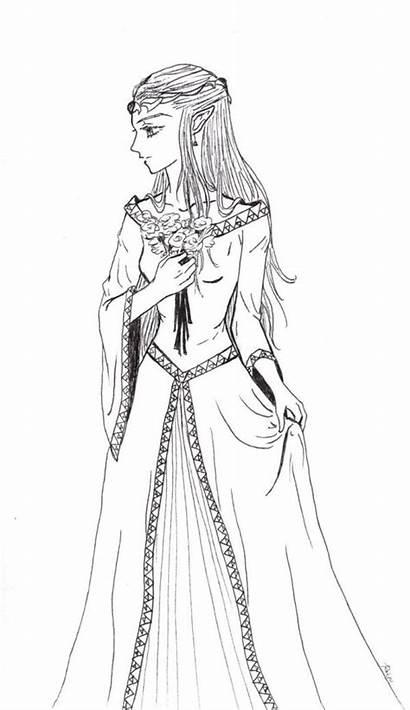 Coloring Zelda Princess Pages Formal Legend Adult