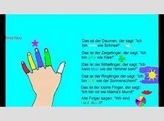Namen für die Finger Kinderreim YouTube