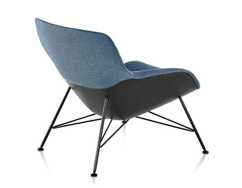 striad low back lounge chair with wire base hivemodern