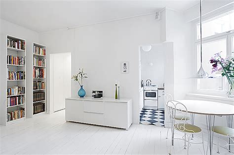 A Minimalist Modern Apartment In White by Clean White Small Apartment Interior Design With