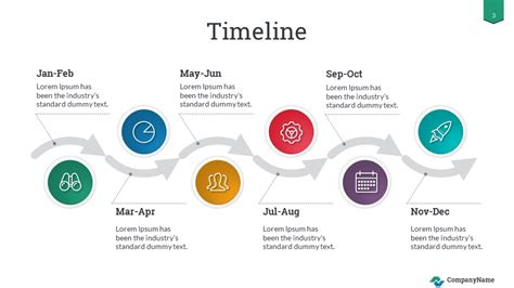 timeline success powerpoint  template
