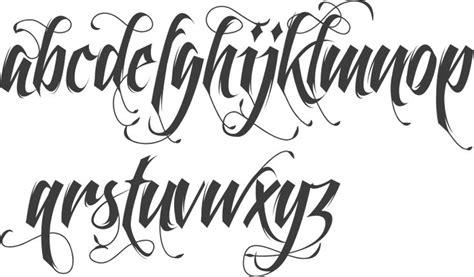 unique tattoo fonts alphabet ideas  pinterest