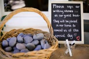 signing stones for wedding guest book wishing stones wedding guest book