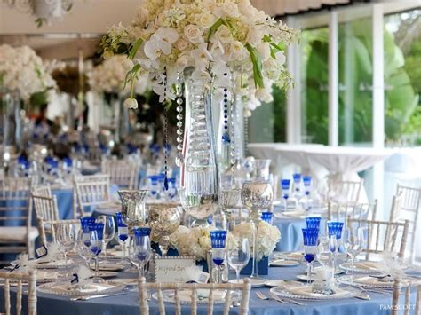 Blue And Silver Wedding Centerpieces Cobalt-blue-white
