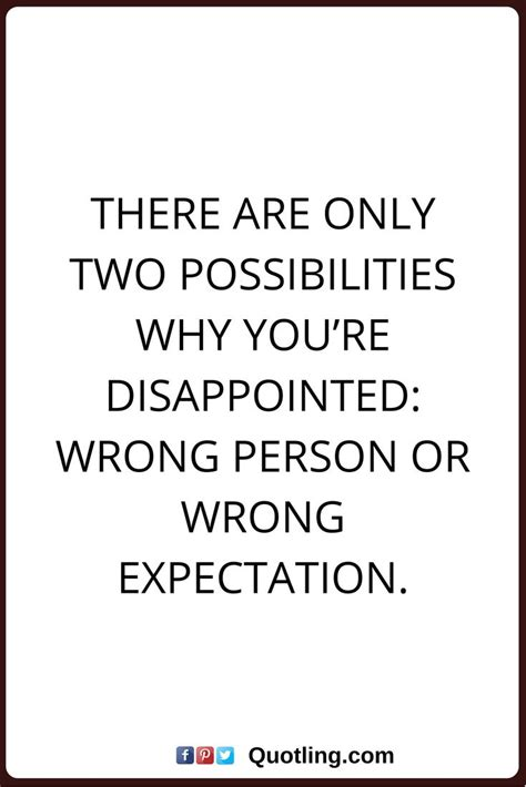 Quotes Expectations Disappointment Love
