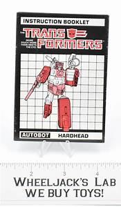 Hardhead Action Figure Instruction Manual Booklet 1987