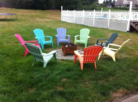 adirondack chairs eight different colors all around the