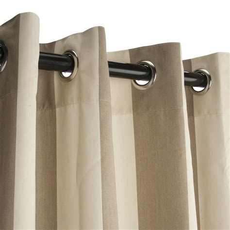 Sunbrella Drapes - regency sand sunbrella grommeted outdoor curtain on sale