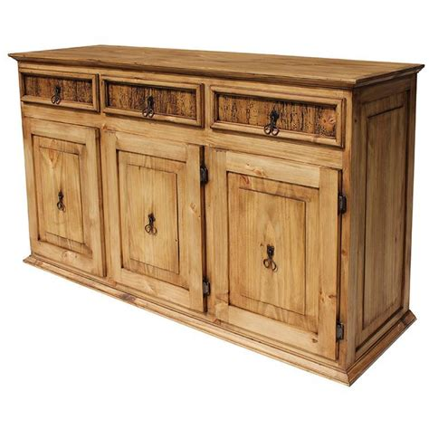 Rustic Sideboards Furniture rustic pine collection largeclassic sideboard com05