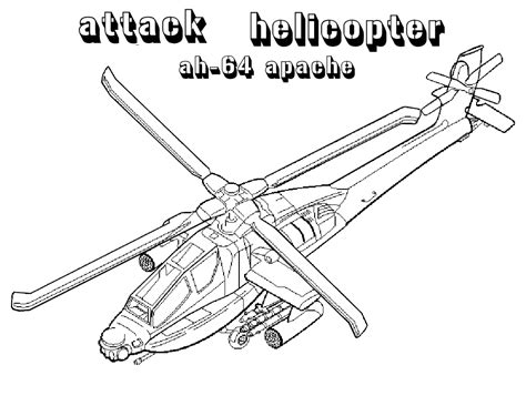 Apache Helicopter Kleurplaat by Apache Attack Helicopters Coloring Pages
