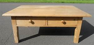 large pine coffee table With large square pine coffee table