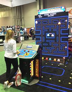 Giant Pac Man and Galaga arcade game - Arcade Party Rental