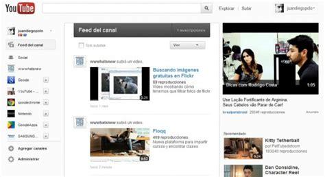 Youtube Prueba Una Nueva Página De Inicio
