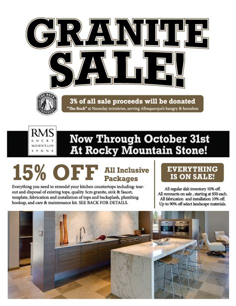 granite sale october 17 31 2015 rocky mountain