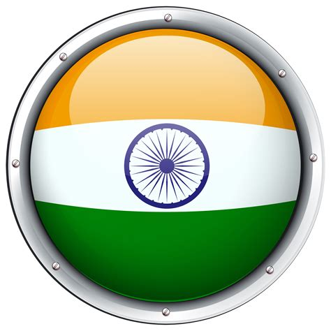 india flag   badge   vectors clipart