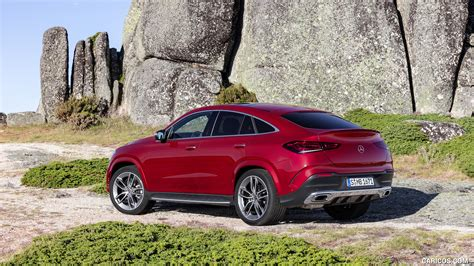 Gallery of 62 high resolution images and press release information. 2021 Mercedes-Benz GLE Coupe (Color: Designo Hyacinth Red Metallic) - Rear Three-Quarter   HD ...