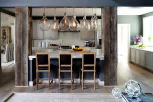 Kitchen Island Columns New Home Construction With Reclaimed Beams Faux Wood Workshop