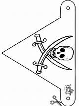 Pirate Flag Coloring Pages Pirates Cut Flags Crafts Funnycoloring Printable Template Piraat Sheet Knutselen Nl Voor Own Advertisement sketch template