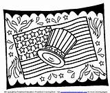 Coloring Flag Pages Printable July 4th Sheets American Hat Memorial Fourth Coloringbookfun Drawings Getcoloringpages Easy Sheet Quotes sketch template