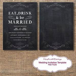 instant download chalkboard wedding by graphicartdesign on With etsy wedding invitations instant download