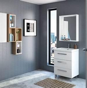 Meuble Tiroir Salle De Bain : meubles lave mains robinetteries meuble sdb meuble de salle de bain sur pieds 60 cm ~ Teatrodelosmanantiales.com Idées de Décoration