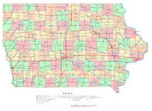 Iowa Map with Cities and Highways