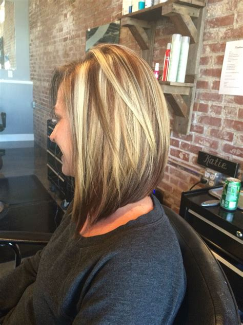 Hairstyles With Brown Underneath by Beautiful Color And A Swing Bob Haircut