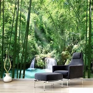 Custom 3D Wall Murals Wallpaper Bamboo Forest Natural