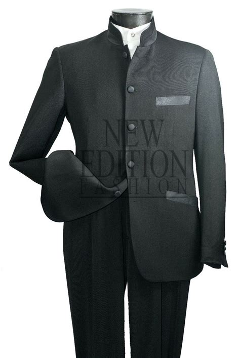 vittorio st angelo mens  button mandarin collar suit