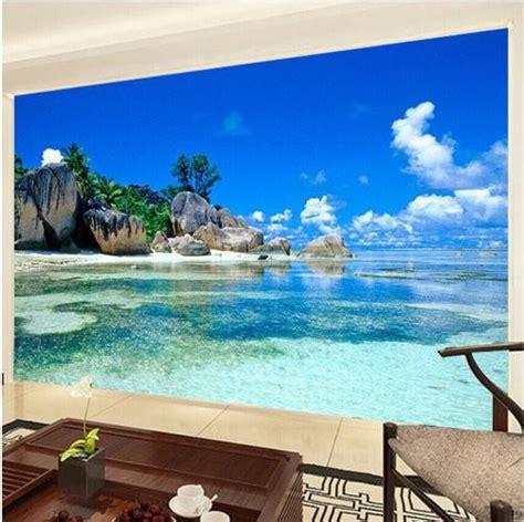 tropical beach island wallpaper  walls wall mural