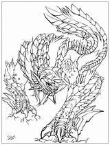 Monster Coloring Legends Adult Myths Juline Adults Scales Impressive Along sketch template