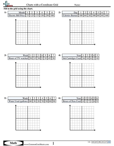 Grid Worksheets  Free Commoncoresheets