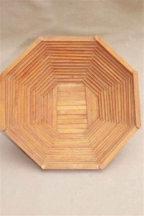 wood popsicle stick bowls retro vintage summer camp arts