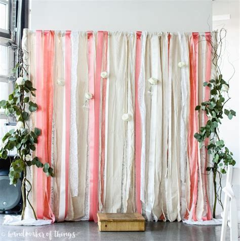 lace and ribbon wedding backdrop in 2019 baby shower
