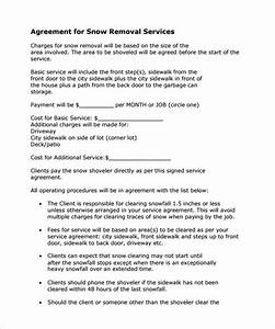 snow plowing contract template 7 download free With snow removal contract template free